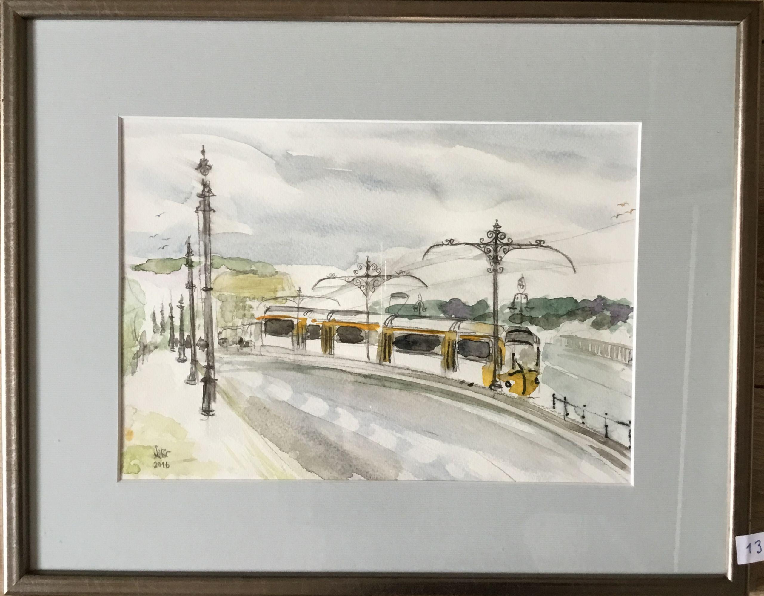 13.Budapeşte Margit Köprüsü, Suluboya, 29×20