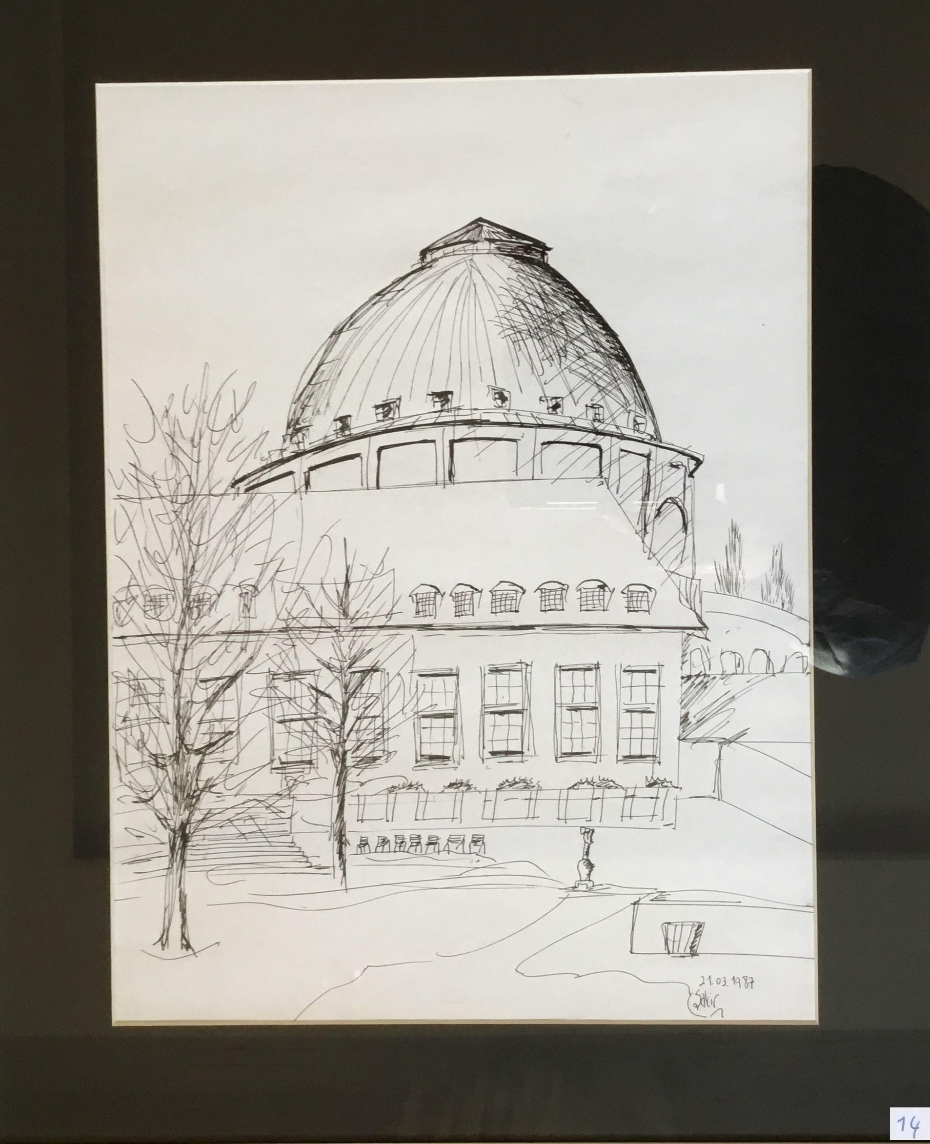 14.Stadthalle Hannover, Desen Çalışması, 39×29