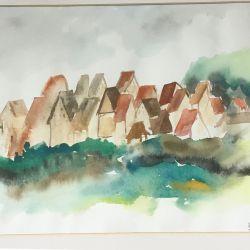 22.Bir Köy, Franken, Suluboya, 30×35