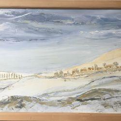 26.Kar Altında Köy, Tuval Üzerine, Yağlıboya, 50×65