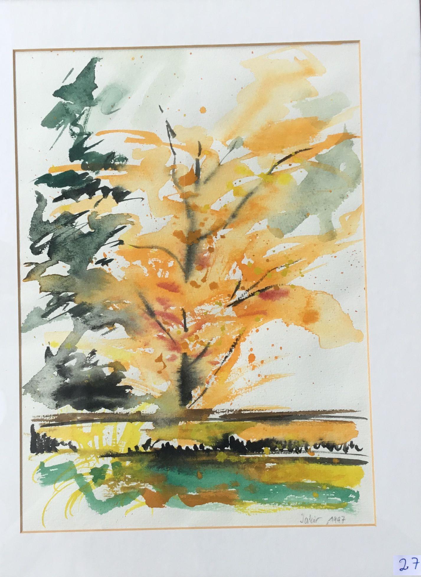 27.Sonbaharda Ihlamur, Suluboya, 25×30