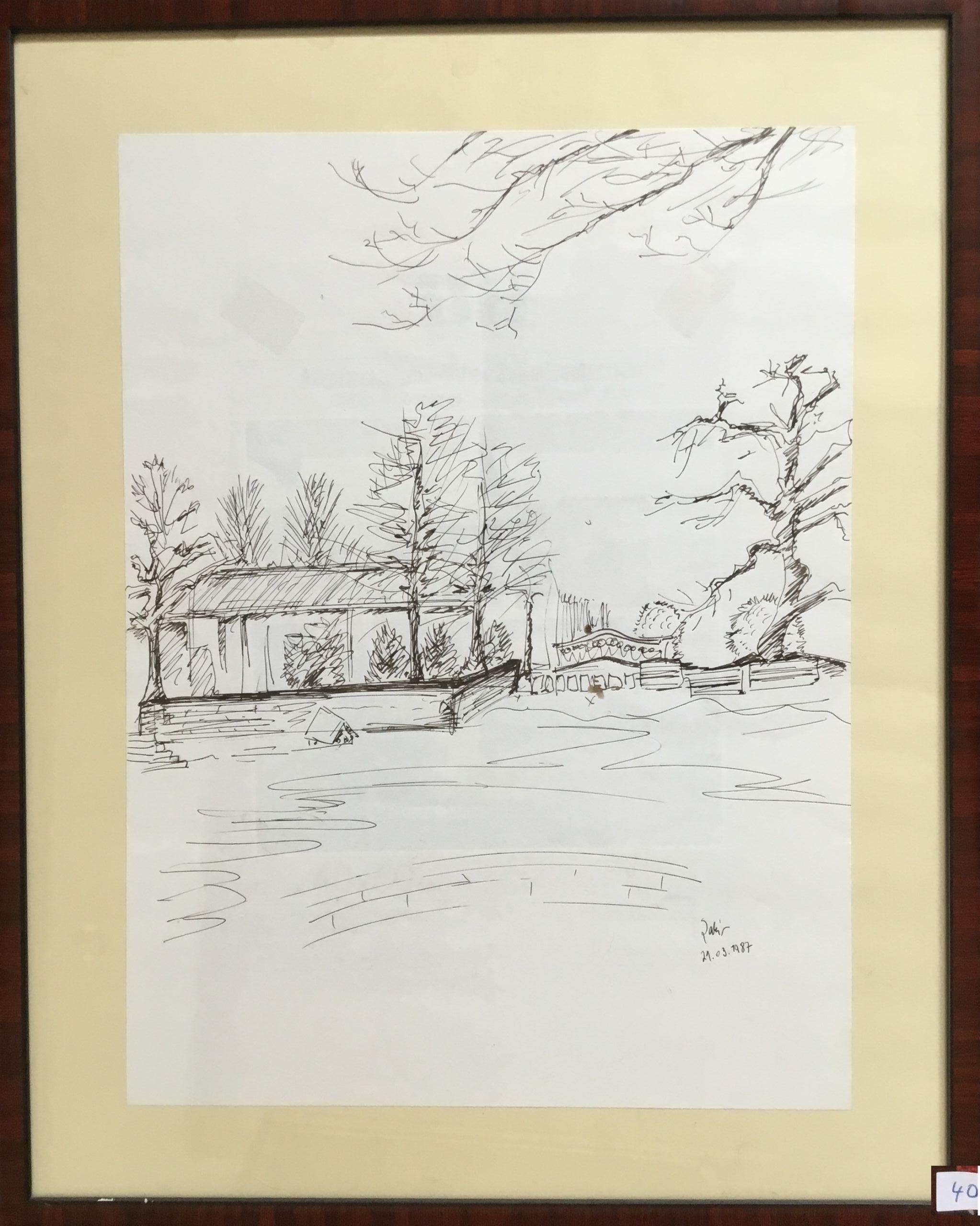 40.Stadtpark Hannover, desen çalışması, 35×45