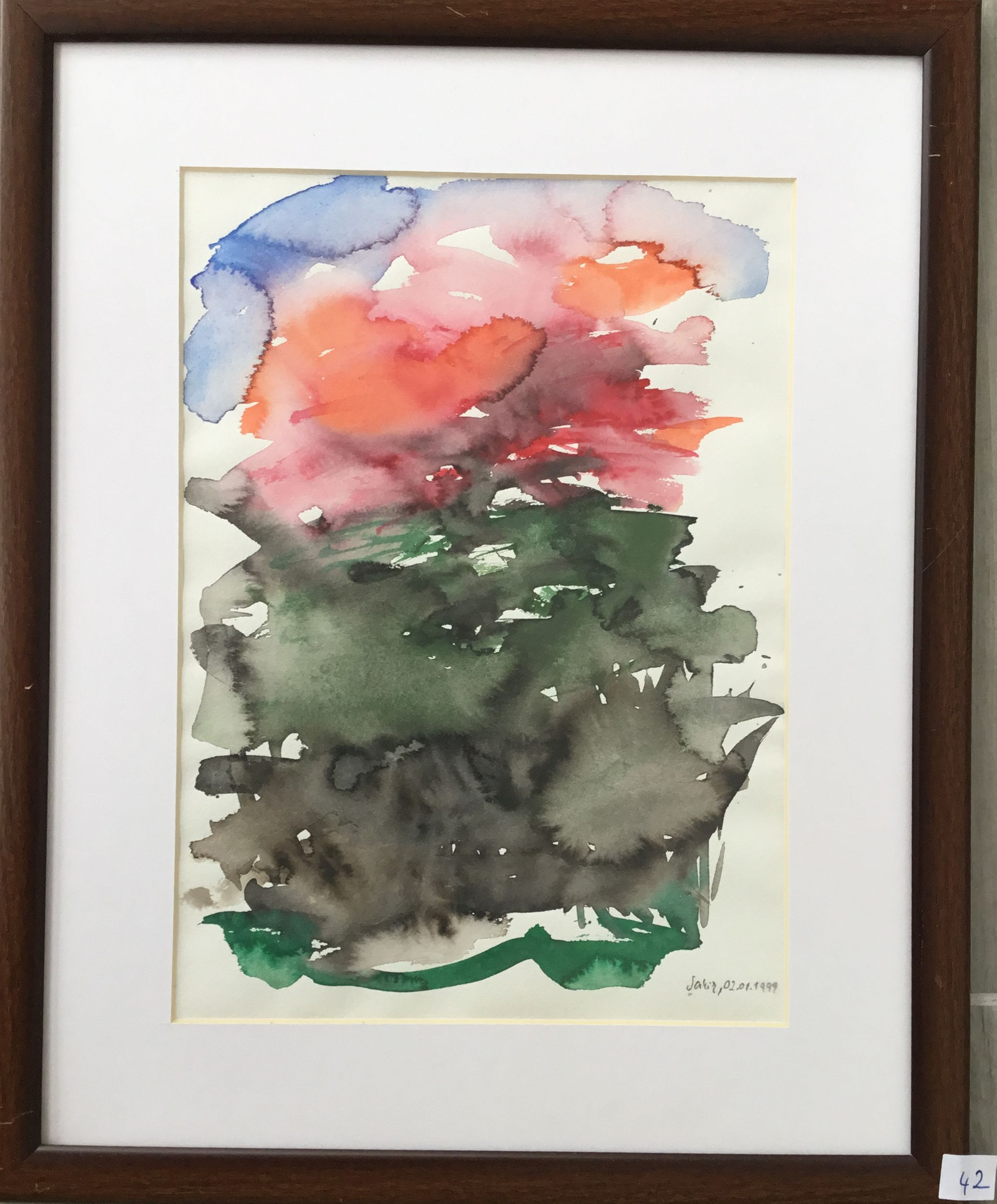 42.Soyut, Suluboya, 25×35