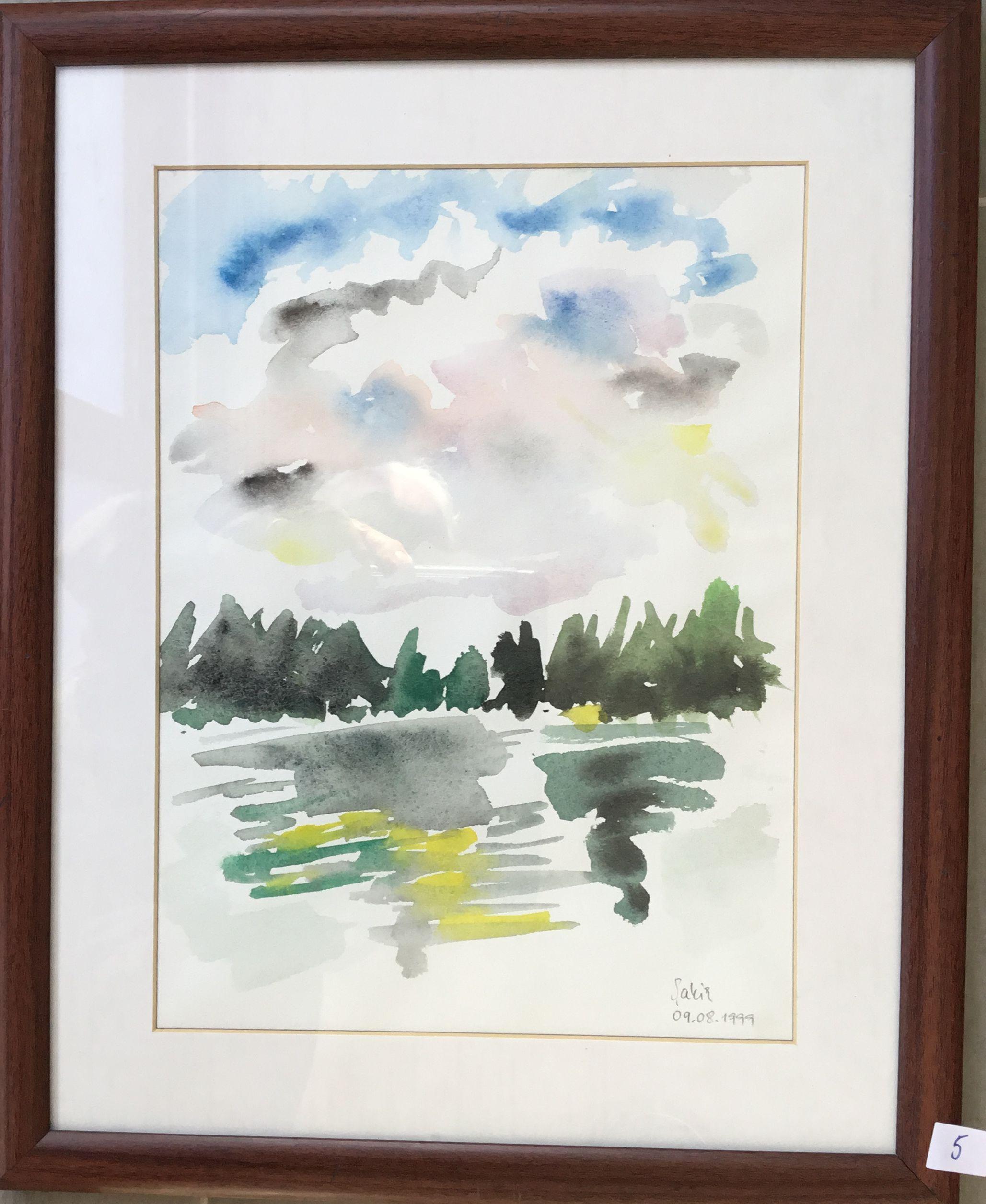 5. Göl, Suluboya, 23×30