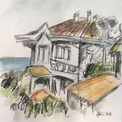 53.Ressamın Evi, Suluboya Kalemi, 25×45