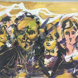 55.Kalabalık Davet, Tuval Üzerine Yağlıboya, 51×76